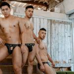 Japanese Men's Briefs GX3 DENIMIX LOGO JOCK BRIEF